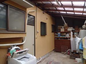 After:お風呂場の外壁まわりを補修。きれいに塗装仕上げをしました。